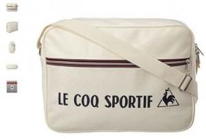 Sac Le Coq Sportif Lineaire beige en soldes