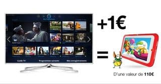 10 de remise sur tv samsung 1 tablette kidspad 3 pour 1 euro. Black Bedroom Furniture Sets. Home Design Ideas