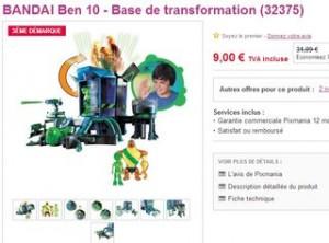 base de transformation Ben 10 Omniverse en soldes