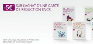 bon de reduction SNCF 5 euros