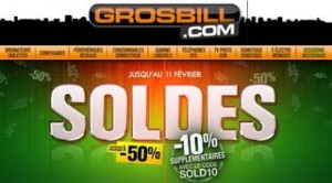 code promo 10 pourcent soldes grosbill