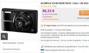 coffret comprenant l'appareil photo Olympus VG-180