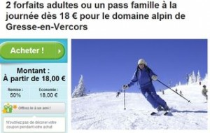 forfait de ski famille Gresse-en-Vercors moitie prix
