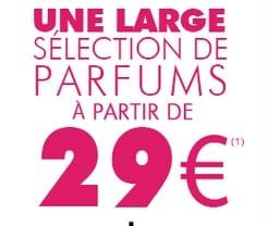parfums a 29 euros chez Marionnaud