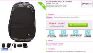sac O Neill Sands Backpack pas cher