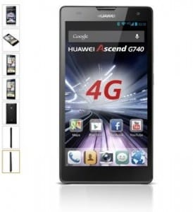 smartphone HUAWEI Ascend G740 pas cher