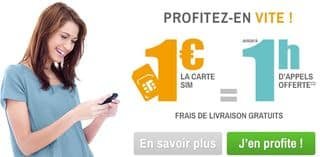 1 euro avec la carte Sim prepayee Simyo