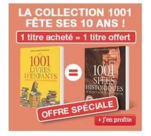 1 livre de la collection 1001 offert pour 1 livre achete