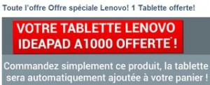 1 ordinateur Lenovo achete 1 Tablette Ideapad offerte