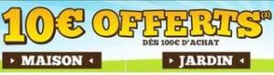 Cdiscount vous offre 10 euros pour 100 euros d'achats dans les rayons jardin, maison et bricolage