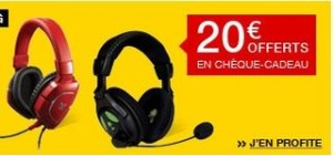 20 euros offert casque Gaming