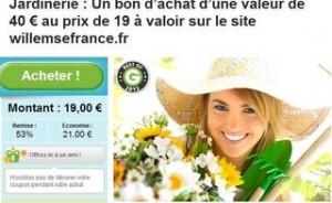 40 euros achats Willemse pour 19 euros