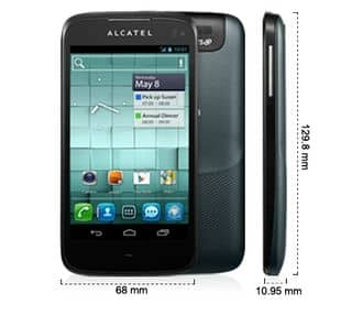 moins de 100 euros le smartphone alcatel one touch 997d. Black Bedroom Furniture Sets. Home Design Ideas