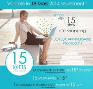 Anniversaire Promod 18 mars 2014
