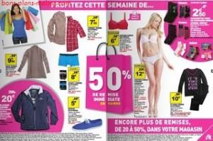 Auchan : 50% de remises immédiate en caisse sur vêtements