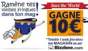 Bon plan 10 euros pour tes vieux vetements BizzBee