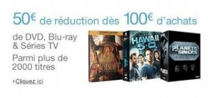Bon plan Blu-Ray DVD 50 euros de remises immediates