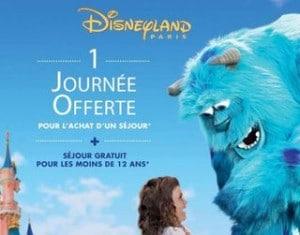 Bon plan DisneyLand : 1 journée offerte pour 1 séjour acheté
