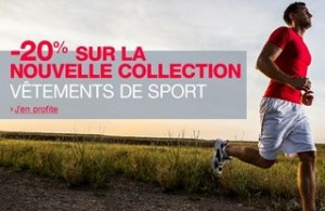 Code promo Amazon vetements de sport