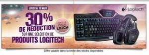 30% de remises supplémentaires sur Logitech