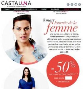 Code promo moins 50 pourcent Castaluna