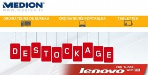 Déstockage ordinateurs Lenovo
