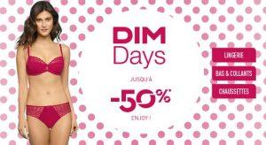 Dim Days ! Jusqu'à moins 50% sur la lingerie, les collants