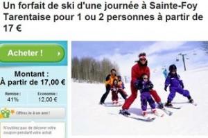 Forfait de ski Sainte-Foy Tarentaise a 17 euros