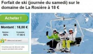Forfait ski moins cher La Rosiere