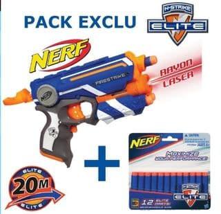 Moins de 10 euros le Pack Pistolet Nerf Firestrike + 12 fléchettes
