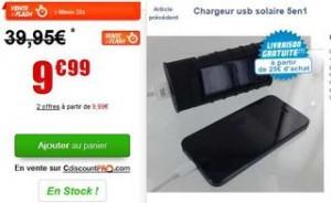 Moins de 10 euros le chargeur solaire 5en1