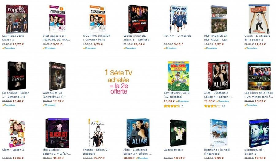 SÉRIE TV 1 achetée = 1 offerte
