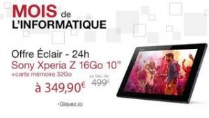 Tablette Sony Xperia Z 10 349 euros