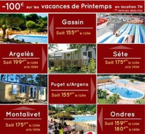 Vacances de Printemps pas chères :  sejours a 100 euros