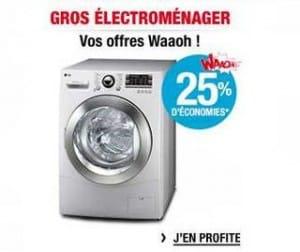 25% de votre électroménager en crédit Waaoh