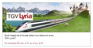 billet de tgv pour la suisse pas cher 19 euros seulement le tgv lyria. Black Bedroom Furniture Sets. Home Design Ideas