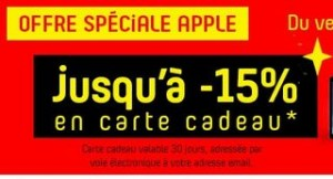 bon plan carte cadeau Darty Apple