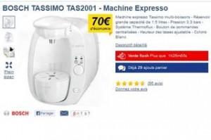 cafetière à dosette Bosch TASSIMO TAS2001