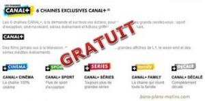 chaines Canal plus gratuites abonnes Box SFR