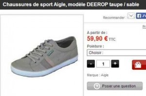 chaussures Aigle moins cheres