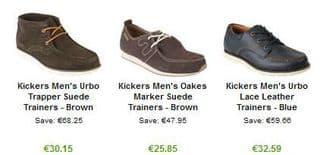 chaussures hommes Kickers en cuir 25 euros