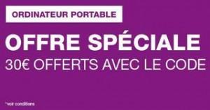 code promo 30 euros ordinateur portable