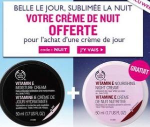 crème de nuit Body Shop gratuite