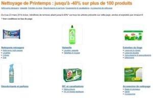 Jusqu'à moins 40% sur 150 articles : lessive et produits entretiens