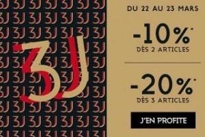 remises supplémentaires sur les 3J des Galeries Lafayette