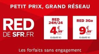 vente privee SFR Red moins de 5 euros