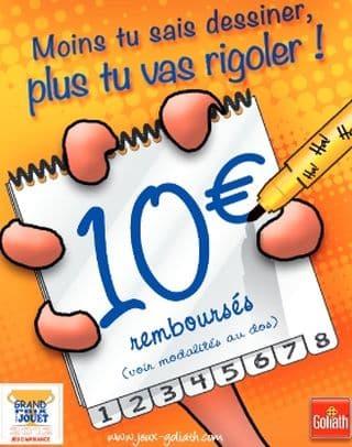 """10 euros remboursés sur le jeu """"Esquissé ?"""" de Goliath"""
