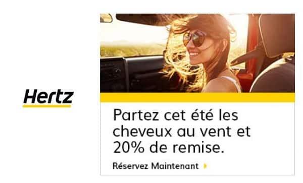20% De Remise Sur La Location D'une Voiture Hertz En France Et Europe Cet été