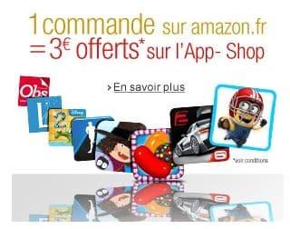 3 euros gratuits sur App-store