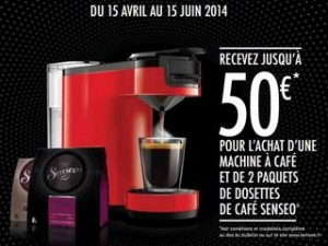 50 euros remboursés sur votre machine à café Senseo